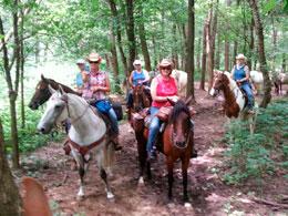 Horseback riding in Eminence, Missouri: Ozark rough rider