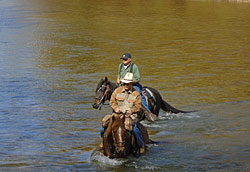 Horseback riding in Eminence, Missouri: Ozark rough rider